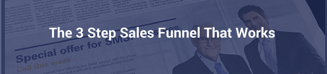 3 STEP SALES FUNNEL